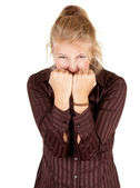 Furious attractive girl — Stock Photo