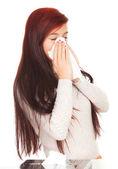 Kız hasta grip ile — Stok fotoğraf