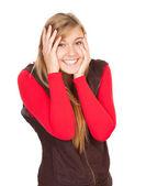 Smiling teenage girl — Stock Photo