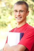 Teenage male student — Stock Photo
