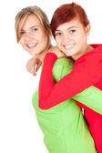 Przytulanie koleżanki — Zdjęcie stockowe