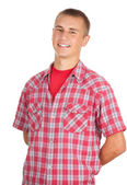 Standing young man — Stock Photo