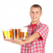 Young man giving beer - Lizenzfreies Foto