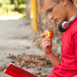 Male student with laptop — Stock Photo #7340476