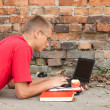 Male student with laptop — Stock Photo #7340477