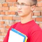 Teenage male student — Stock Photo #7340485