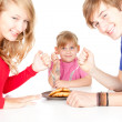 Hungry family — Stock Photo #7340494