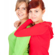 Hugging female friends — Stock Photo #7340636