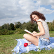 Reading young woman — Stock Photo #7342276