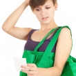 Shopping girl, series - Foto de Stock