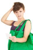 Shopping girl, serie — Stockfoto