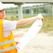 Male engineer in construction site — Stock Photo #7361458