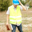 Male engineer in construction site — Stock Photo