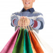 Shopping young man — Stock Photo