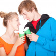 Stock Photo: Young loving couple