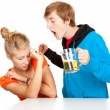 Violence with man shouting at girlfriend — Stock Photo #7361769