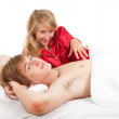 Happy couple in bed — Stock Photo #7361777