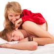 Happy couple in bed — Stock Photo #7361781