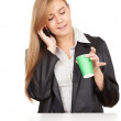 Business woman with mobile phone — Stock Photo