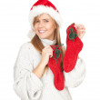 Smiling Christmas girl — Stock Photo
