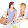 Two girls friends shopping — Stock Photo #7361897