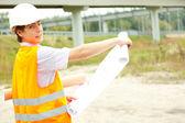 Mężczyzna inżynier budowy — Zdjęcie stockowe