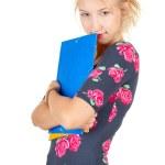 Attractive university student girl — Stock Photo