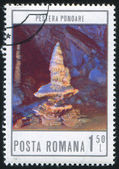 Stamp printed by Romania — Stock Photo