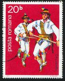 Folk dancer — Stock Photo