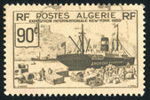 Stamp printed by Algeria — Stock Photo