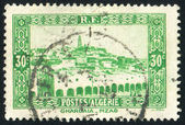 ALGERIA CIRCA 1941: stamp printed by Algeria, shows View of Ghardaia, circa 1941 — Stock Photo