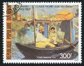 Monet en barco — Foto de Stock
