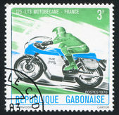 GABON - CIRCA 1976: stamp printed by Gabon, shows motorsport, circa 1976 — Stock Photo