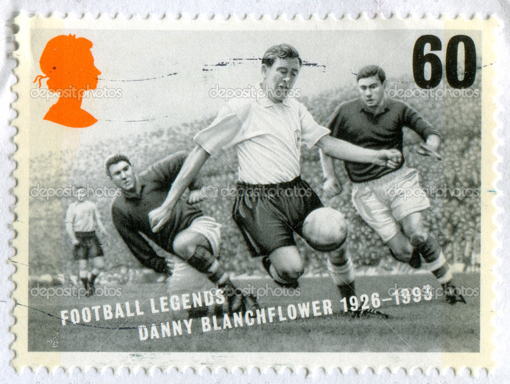 GREAT BRITAIN - CIRCA 1996: stamp printed by Great Britain, shows soccer, circa 1996 — Stockfoto #7142083