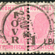 Foto Stock: Stamp printed by Romania