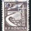 Stamp printed by Romania — Stockfoto