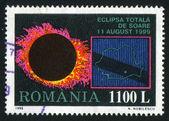 Total eklipse der sonne — Stockfoto