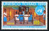 Class and UN Emblem — Stock Photo
