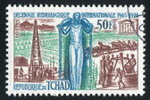 Stamp printed by Chad — Stock Photo