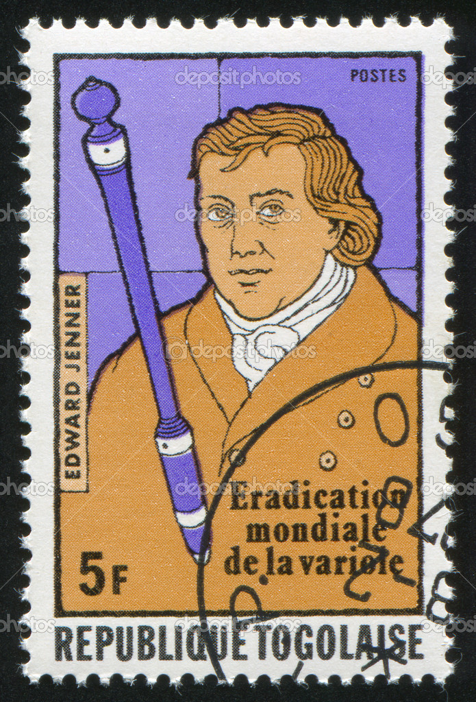 TOGO - CIRCA 1977: stamp printed by Togo, shows Edward Jenner, circa 1977.  Stock Photo #7420279