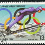 Постер, плакат: Ski jumping