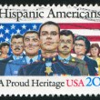 UNITED STATES - CIRC1984: stamp printed by United States, shows Hispanic Americans, circ1984 — Stock Photo #7604785