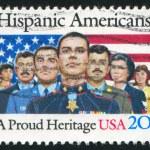 UNITED STATES - CIRCA 1984: stamp printed by United States, shows Hispanic Americans, circa 1984 — Stock Photo #7604785