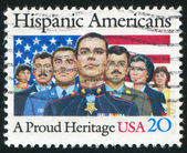 UNITED STATES - CIRCA 1984: stamp printed by United States, shows Hispanic Americans, circa 1984 — Stock Photo