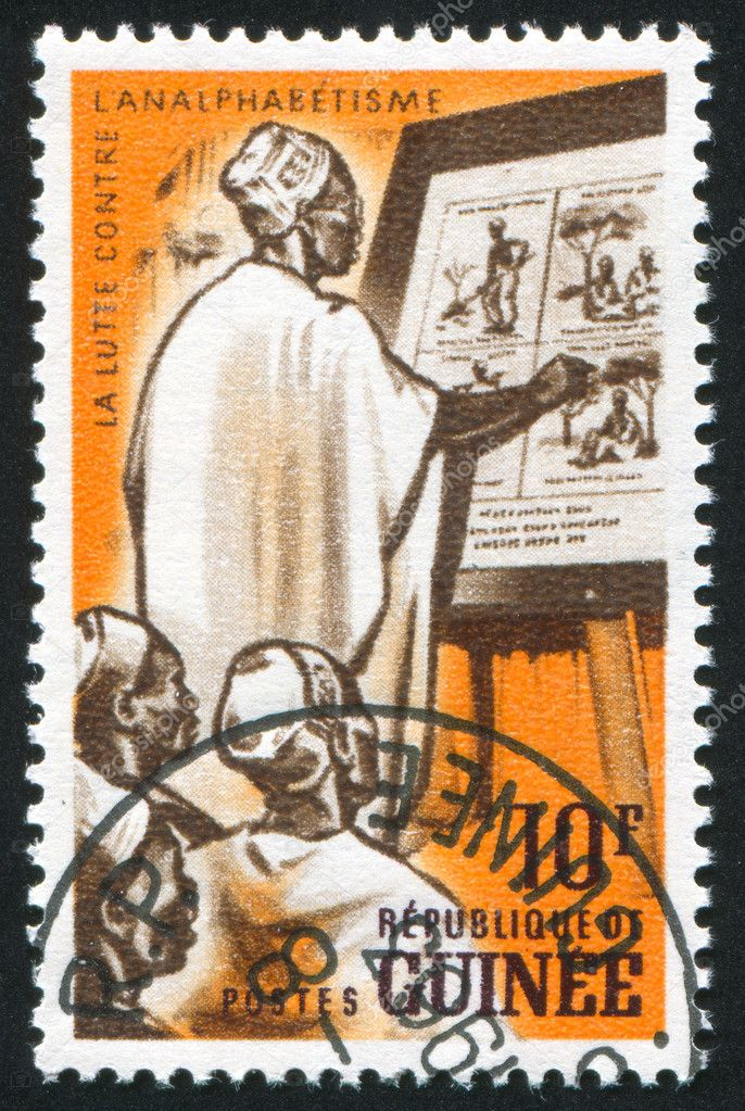 GUINEA CIRCA 1962: stamp printed by Guinea, shows Adult class, circa 1962 — Stock Photo #7850490