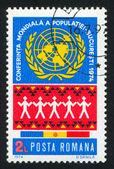 UN emblem — Stock Photo