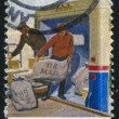 Loading mail on truck - Foto de Stock
