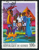 GUINEA CIRCA 1968: stamp printed by Guinea, shows Old Fayas Inheritance, circa 1968 — Stock Photo