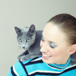Play with cat — Stock Photo #7420663