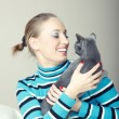 Play with cat — Stock Photo #7420683